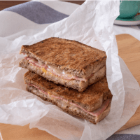 Grilled Ham Three Cheese Sandwich : Crunchy and Delicious Breakfast Recipe