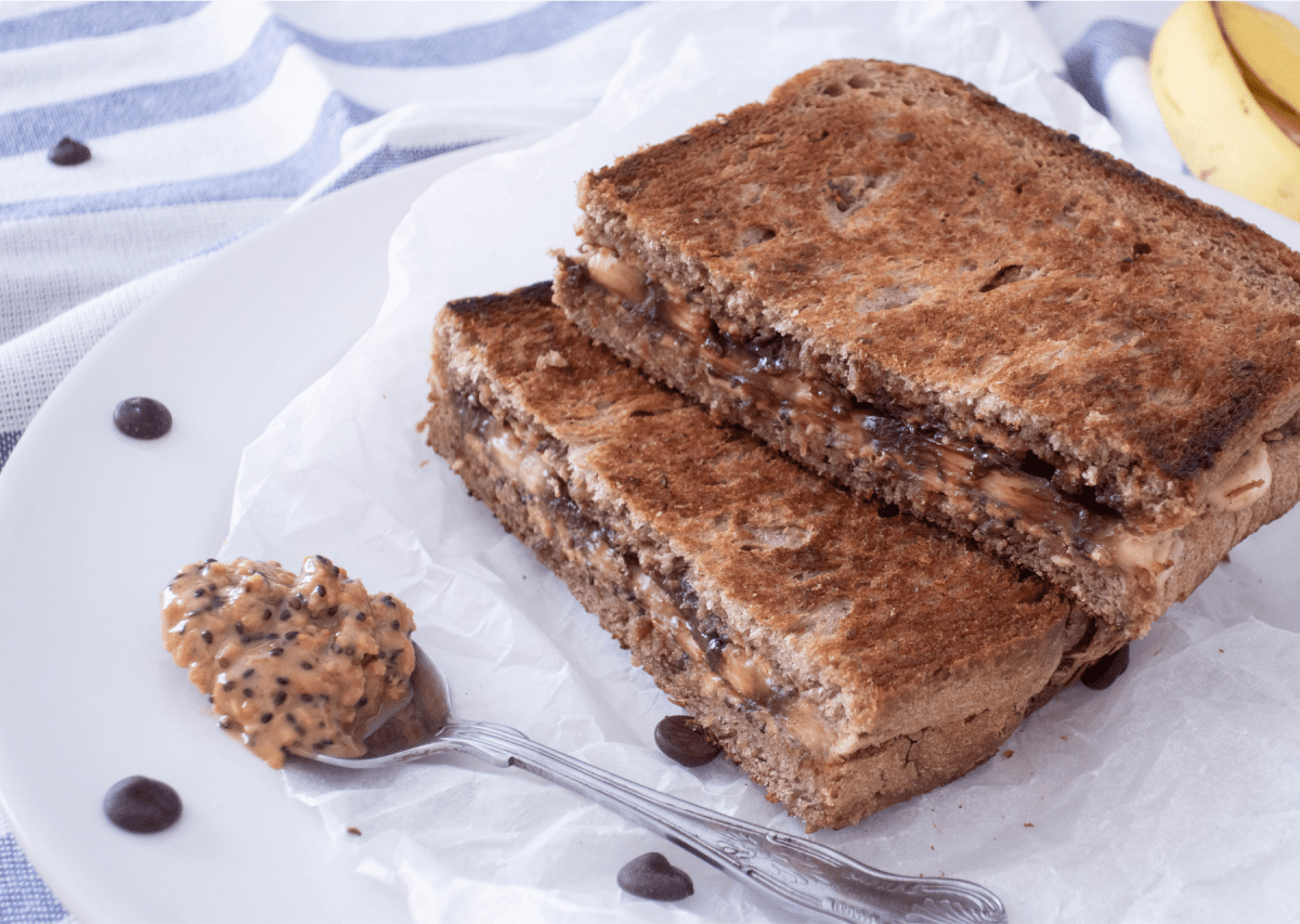 Grilled Peanut Butter and Banana Sandwich Breakfast Recipe