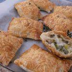 Mushroom Leek Puff Pastry Pie