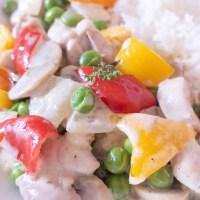 白汁蘑菇雞皇飯
