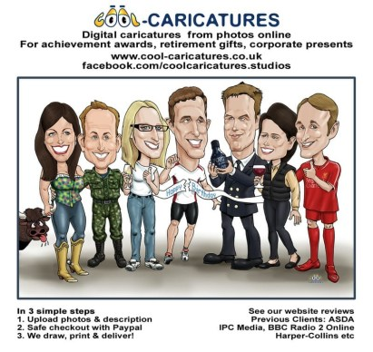 Caricatures from photos online UK- How to order cartoon portraits