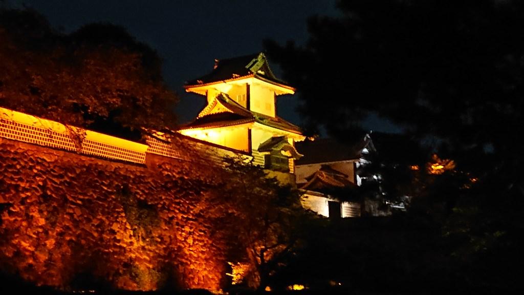 金沢城 石川門のライトアップ
