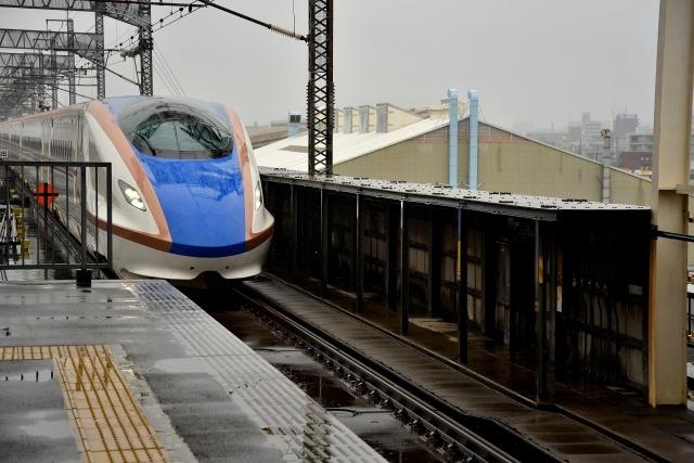 北陸新幹線,かがやき,雪,金沢