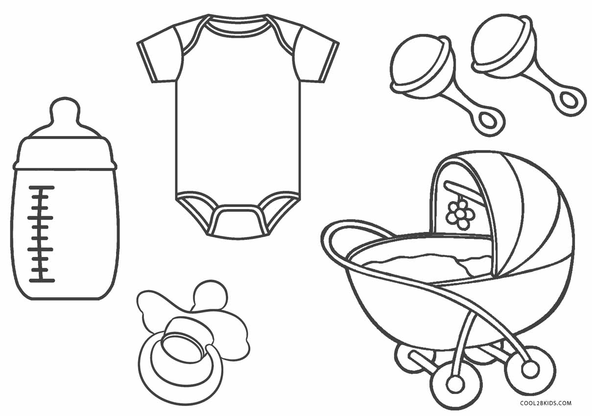 Printable Baby Shower Coloring Pages Novocom Top