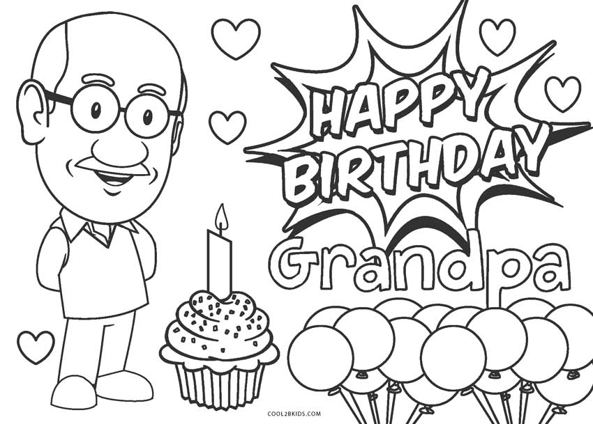 Free Printable Birthday Coloring Pages For Adults Novocom Top
