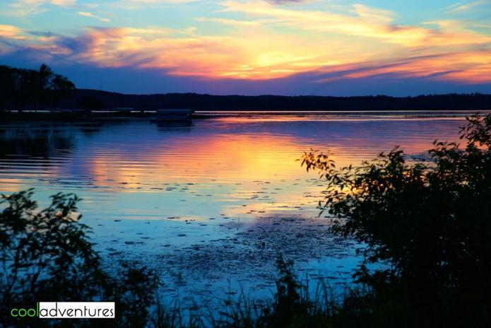 Wilson Bay sunset, Gull Lake, Brainerd Lakes, Minnesota