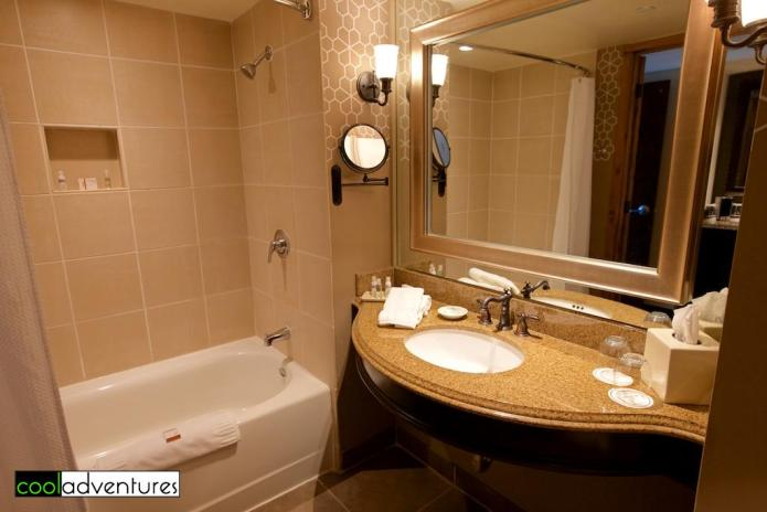 Bath in suite at Hotel Contessa, San Antonio, Texas