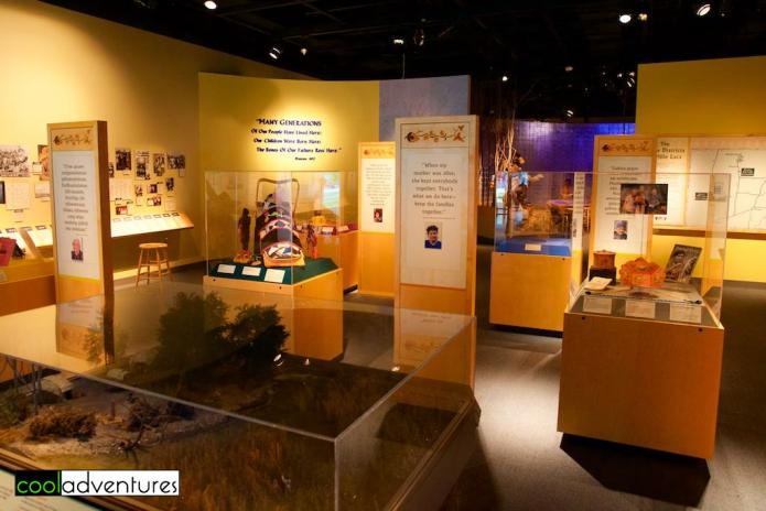 Exhibits at the Mille Lacs Indian Museum