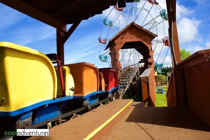 Mini roller coaster amusement ride, Paul Bunyan Land, Brainerd, Minnesota