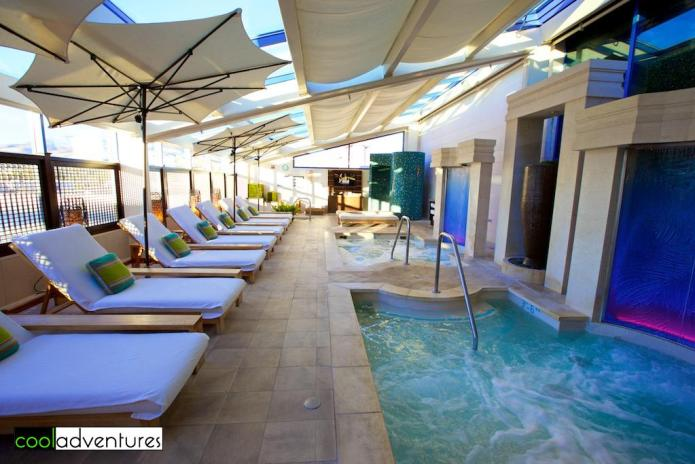 Aqua Spa Lounge with experiential shower, Atlantis Casino Resort Spa