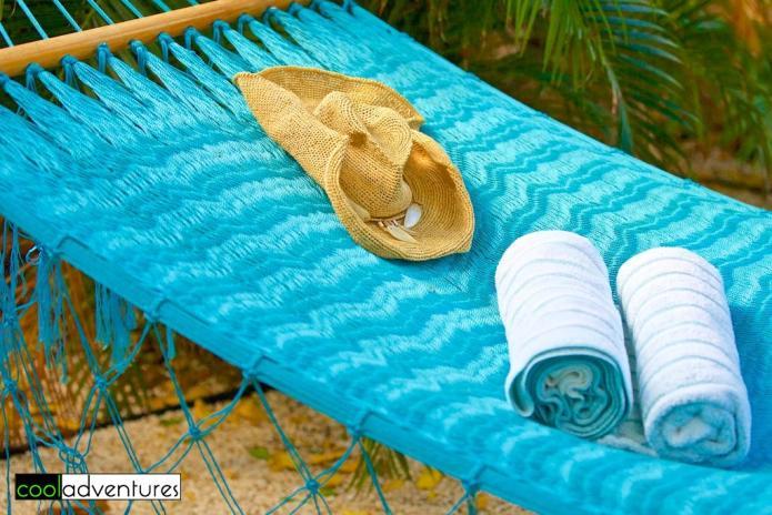 Hammock on casita patio, Boardwalk Hotel Aruba, Palm Beach, Aruba