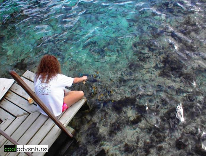 Kim Hull in Bora Bora