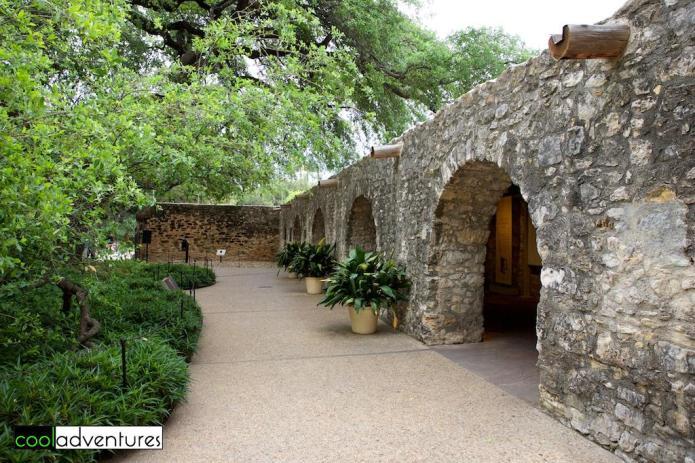 Courtyard outside Long Barrack, The Alamo, San Antonio, Texas