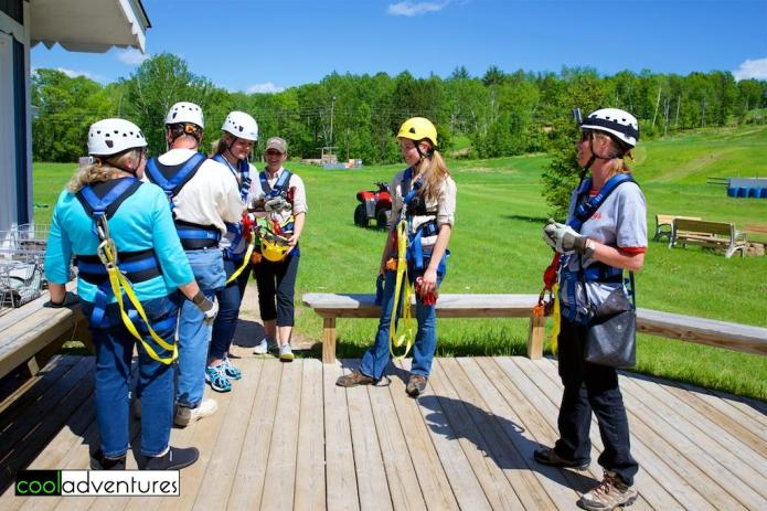 Gear is provided by Brainerd Zip Line Tour