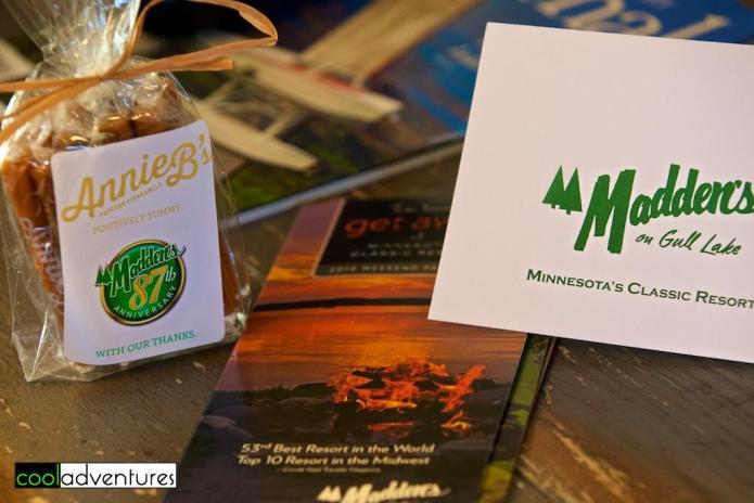 Welcome gift at Madden's On Gull Lake, Brainerd, Minnesota