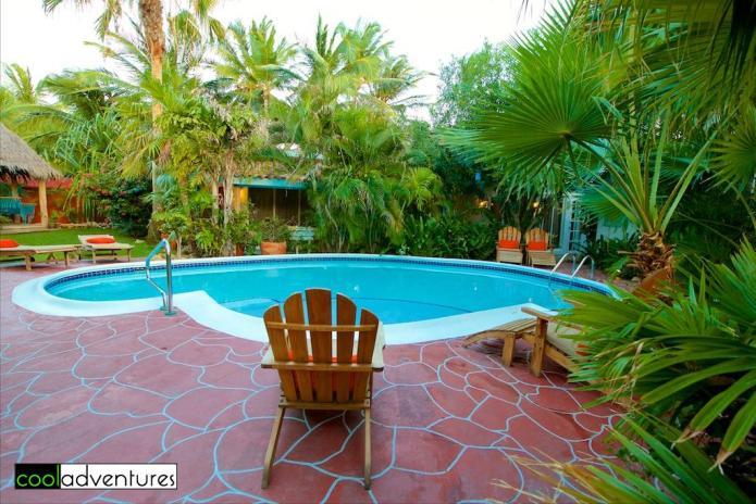 Quiet pool at Boardwalk Hotel Aruba