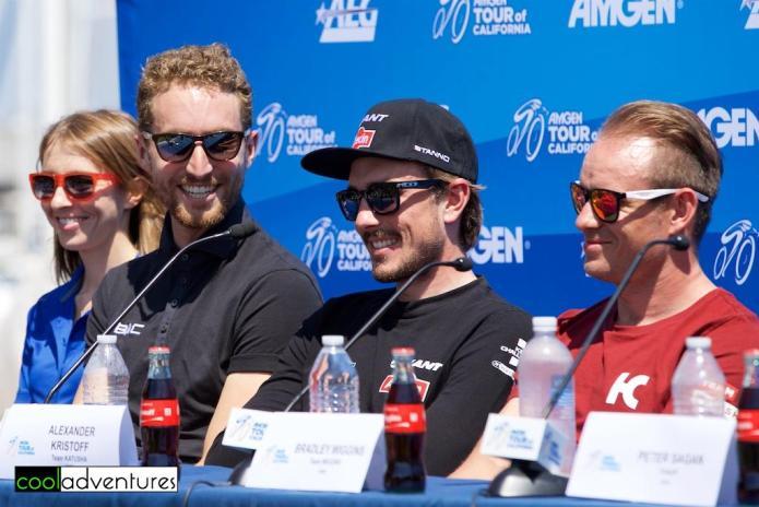 Taylor Phinney, John Degenkolb, Alexander Kristoff, 2016 Amgen Tour of Califoria press conference