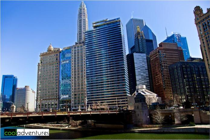 The Chicago River, Wacker & Wabash, Chicago, Illinois