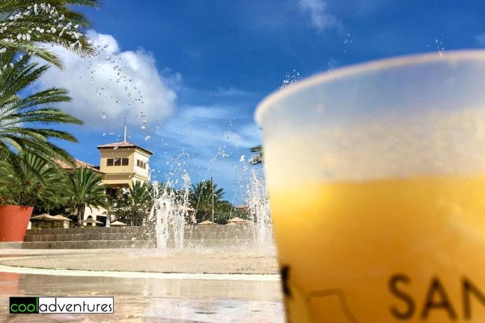 Mango daiquiris at Splash pool bar, Santa Barbara Beach & Golf Resort, Curacao