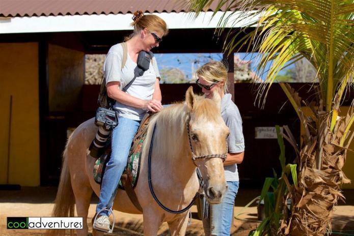 Kim on Blondy Studebaker, Rancho Washikemba, Bonaire