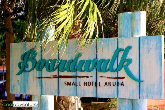 Boardwalk Small Hotel Aruba entrance