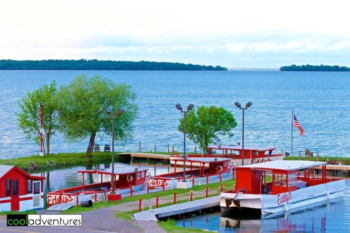 View from our balcony at Eddy's Resort on Lake Mille Lacs