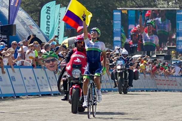 Esteban Chaves wins ATOC 2014 Stage 6