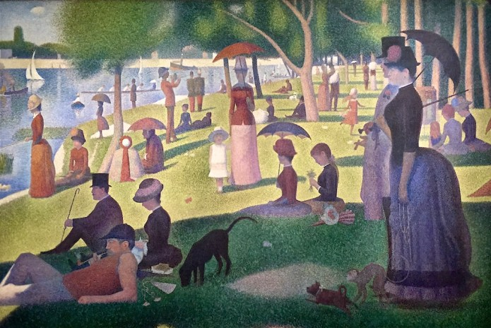 A Sunday Afternoon on the Island of La Grande Jatte, Georges Seurat, Art Institute of Chicago, Chicago, Illinois