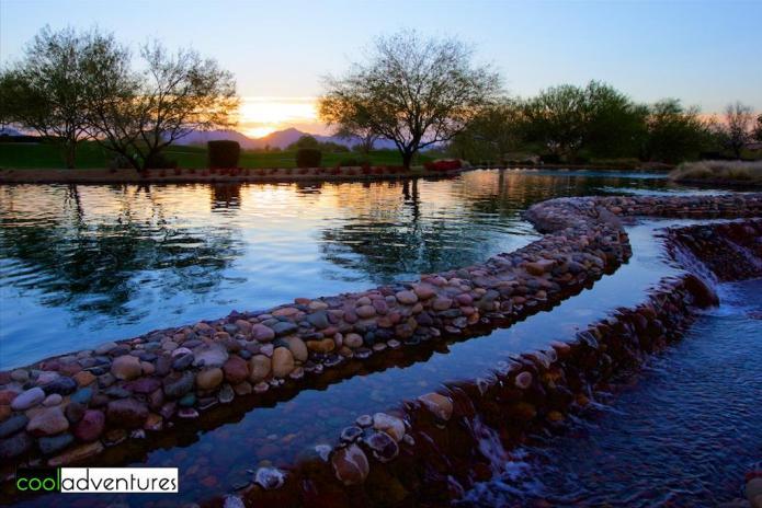 Stroll by the water, JW Marriott, Phoenix, Arizona