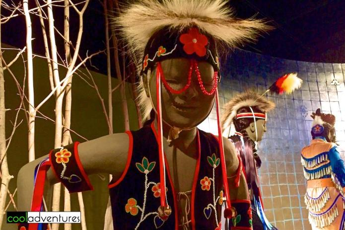 Pow-wow outfits on display at Mille Lacs Indian Museum