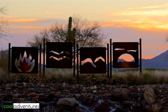 Fire, water, earth, sky, JW Marriott Phoenix Desert Ridge, Phoenix, Arizona