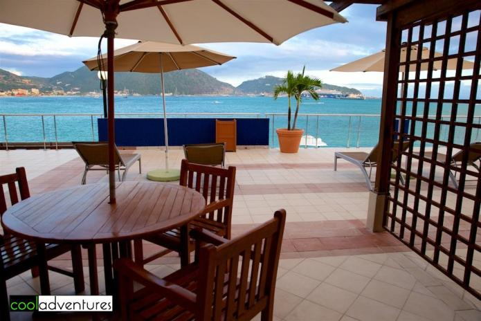 Guest room patio, Sonesta Great Bay Resort, Philipsburg, Sint Maarten