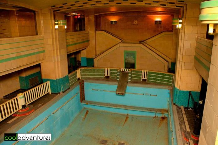 First class swimming pool, The Queen Mary