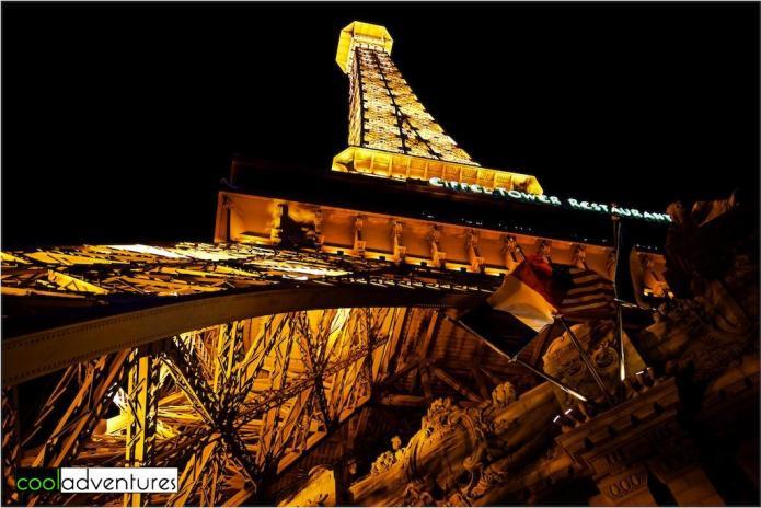 The Paris Las Vegas Eiffel Tour at night, Las Vegas, Nevada