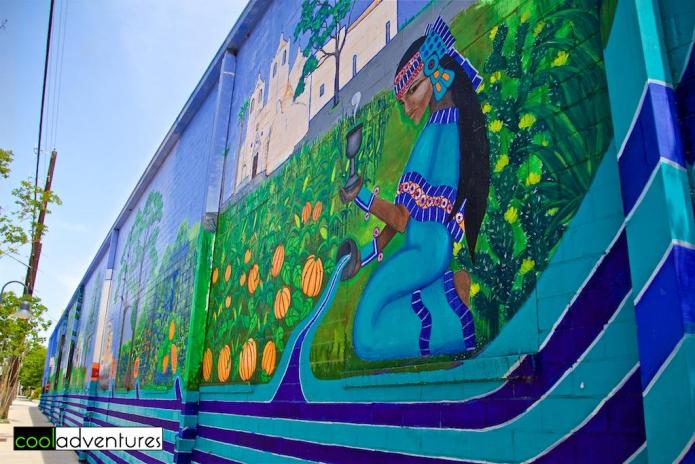 Mural near Blue Star, Lead muralists: Jane Madrigan and Jose Cosme, San Antonio, Texas