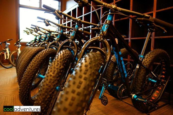 Fat tire bike rentals at Detroit Mountain, Detroit Lakes, Minnesota