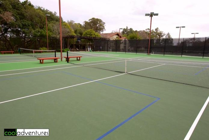 Tennis courts, Chaminade Resort