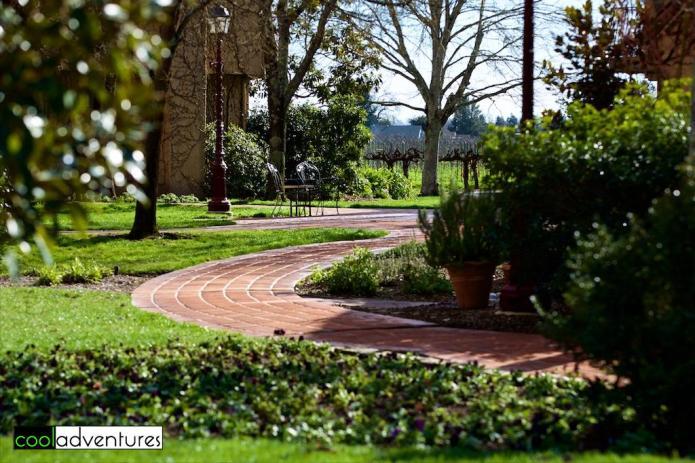 Walking paths at Vintner's Inn Santa Rosa