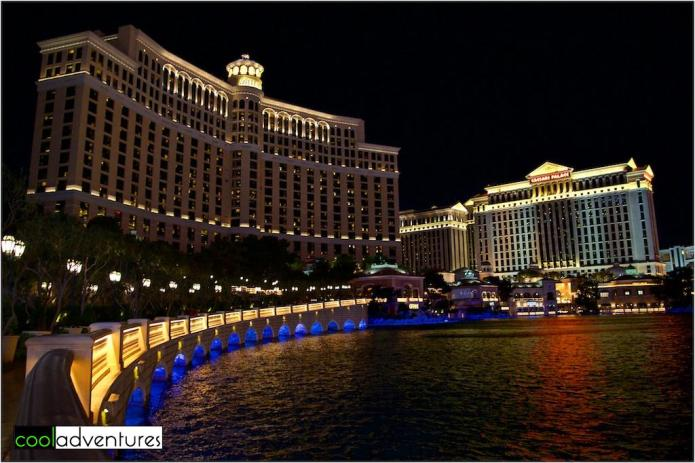 Bellagio at night, Las Vegas, Nevada