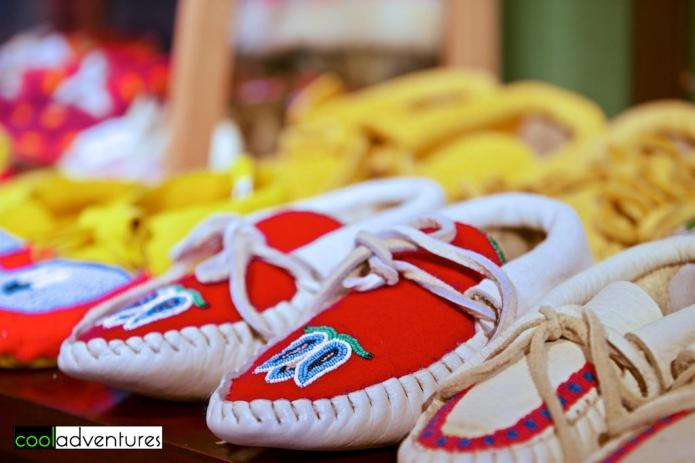 Moccasins at Trading Post