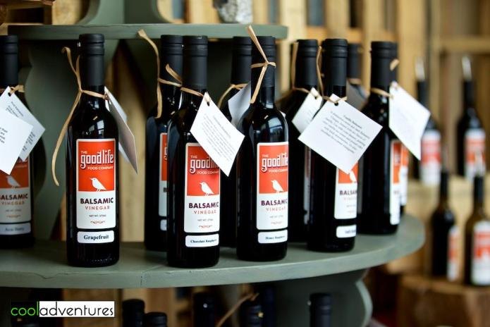 Artisan balsamic vinegars, Park Rapids, Minnesota