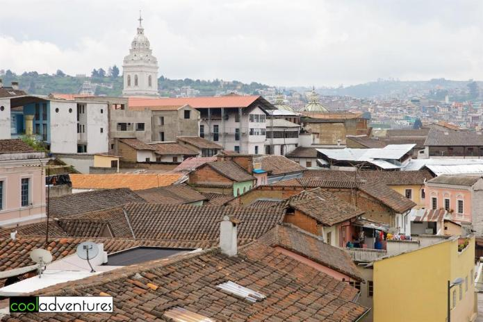Rooftops of Quito, Ecuador