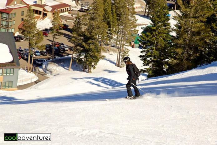 Kim Hull skiing at Kirkwood
