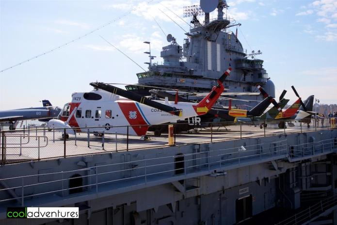 Helicopters on the Flight Deck, The Intrepid Sea, Air & Space Museum