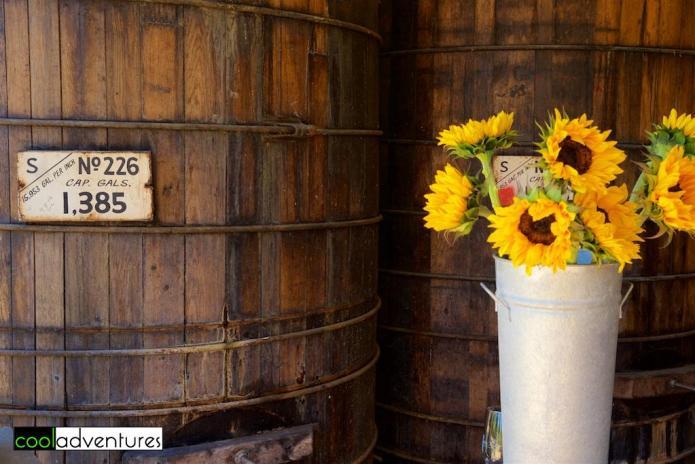 Old-growth redwood tanks at Martin Ray Vineyards and Winery, Santa Rosa, California