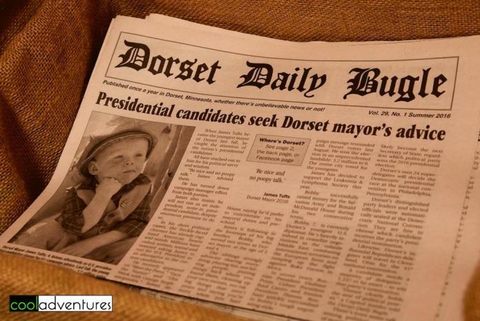 Dorset Daily Bugle, Dorset, Minnesota
