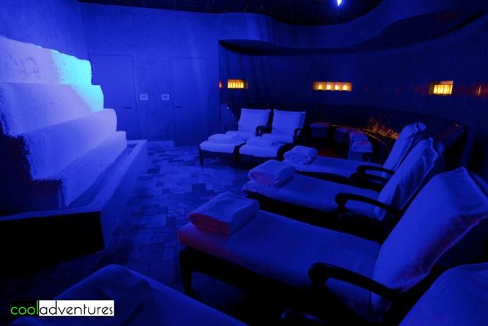 Brine inhalation-light therapy lounge, Spa Atlantis, Atlantis Casino Resort Spa