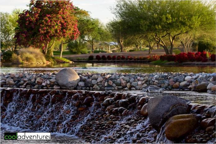 Rolling streams at JW Marriott Desert Ridge, Phoenix, Arizona