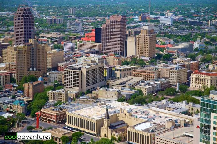 View of San Antonio, Texas from Tower of the Americas