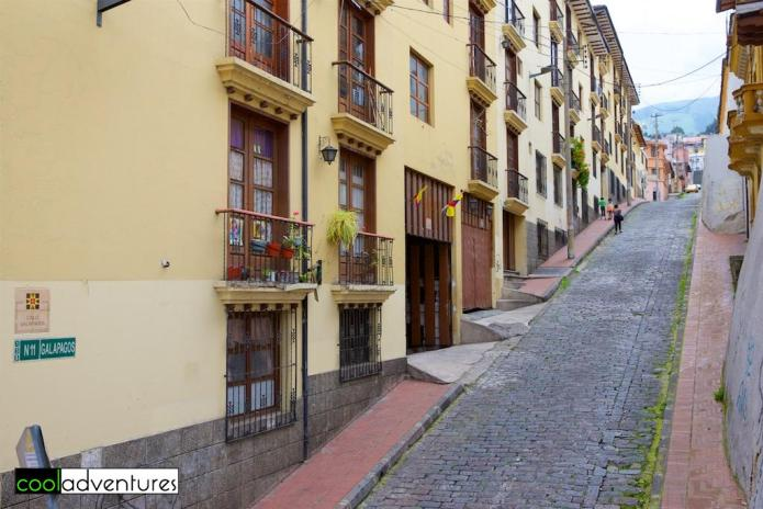 Hilly streets of Quito, Ecuador